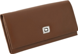 Ladies Tan Leather Clutch RFID Wallet - click to view product detail page