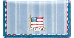 American Flag Blue Checkbook Cover