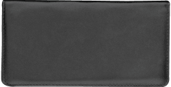 Black Leather Checkbook Cover - click to view product detail page