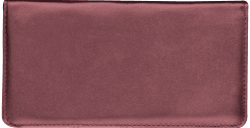 Burgundy Leather Checkbook Cover - click to view product detail page