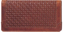 Woven Leather Checkbook Cover - click to view product detail page