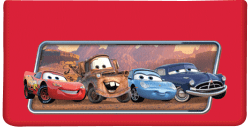 Disney Pixar Cars Red Checkbook Cover