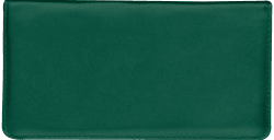 Hunter Green Leather Checkbook Cover
