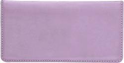 Lilac Leather Checkbook Cover