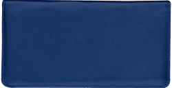 Navy Blue Leather Checkbook Cover