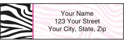 Neon Safari Zebra Print Address Labels
