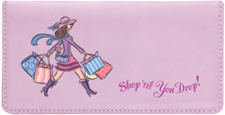 Pampered Girls Lavender Leather Checkbook Cover