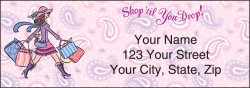 Pampered Girls Address Labels - click to view product detail page