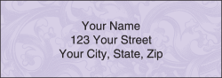 Renaissance Scroll Address Labels