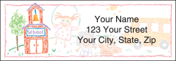 School Sketches Address Labels - click to view product detail page