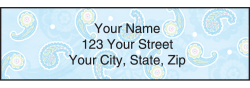 Simply Paisley Address Labels