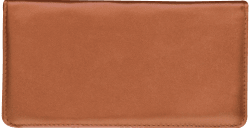 Tan Leather Checkbook Cover - click to view product detail page