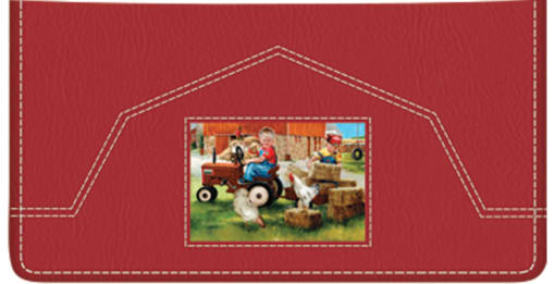 Barnyard Buddies Checkbook Cover - enlarged image