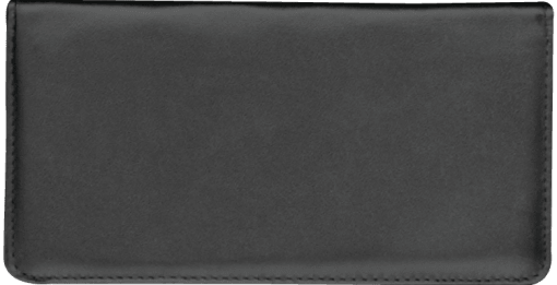 Black Standard Checkbook Cover - enlarged image