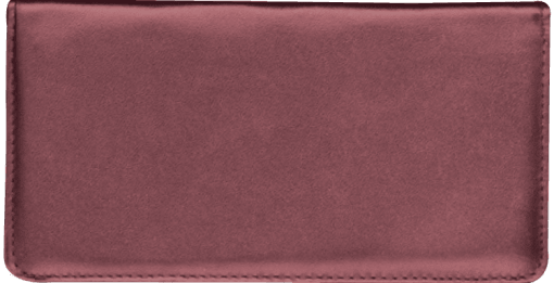 Burgundy Standard Checkbook Cover - enlarged image