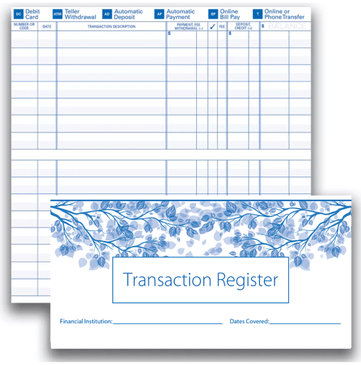 Check Register - enlarged image