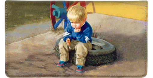 Childhood Days Checkbook Cover - enlarged image