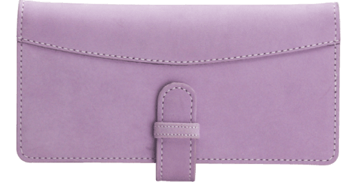 Lavender Checkbook Cover - enlarged image