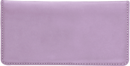 Lilac Checkbook Cover - enlarged image