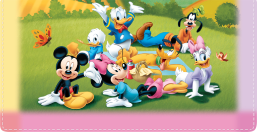 Disney Mickey's Adventures Checkbook Cover - enlarged image