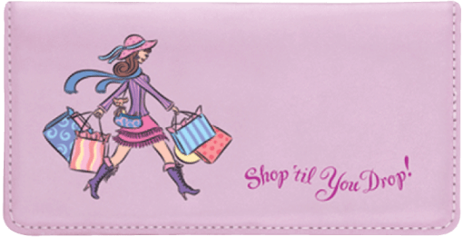 Pampered Girls™ Checkbook Cover - enlarged image
