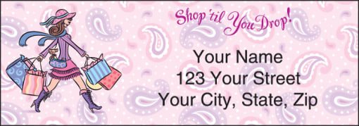 Pampered Girls™ Labels - enlarged image
