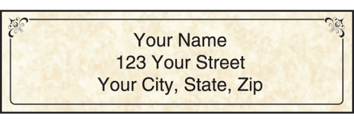Parchment Labels - enlarged image