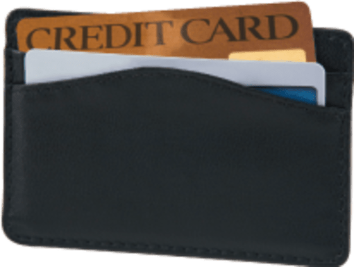 Black Credit Card Sleeve - enlarged image