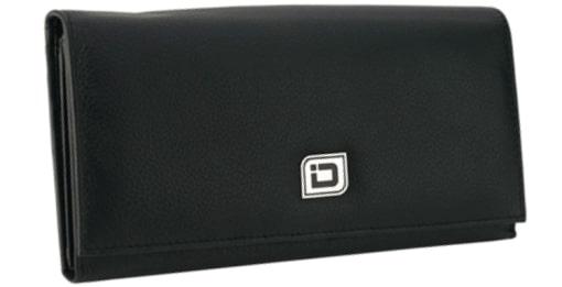 Ladies Leather Clutch -Black - enlarged image