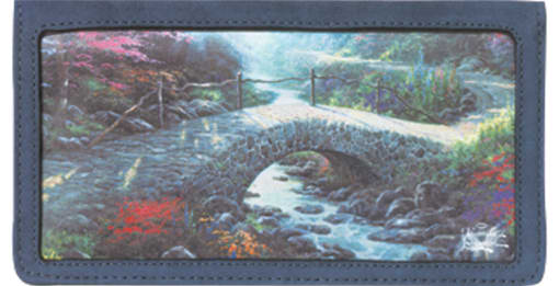 Serenity by Thomas Kinkade Checkbook Cover - enlarged image