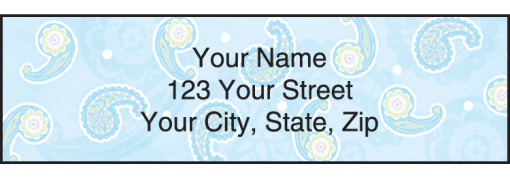 Simply Paisley Labels - enlarged image