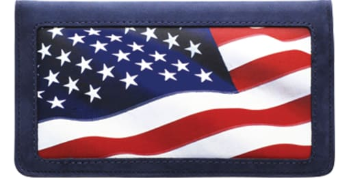 Stars & Stripes Checkbook Cover - enlarged image