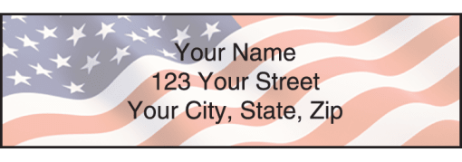 Stars & Stripes Labels - enlarged image
