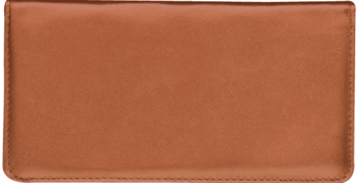 Tan Standard Checkbook Cover - enlarged image