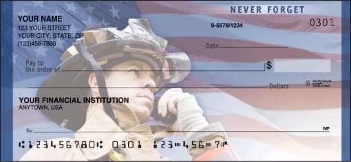 American Heroes Checks - enlarged image