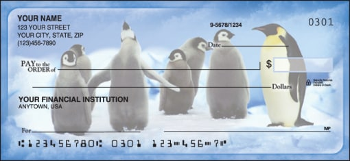 Penguin Parade Checks - enlarged image