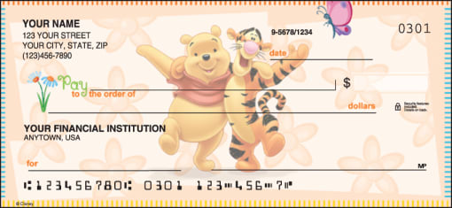 Disney Winnie the Pooh Checks - enlarged image