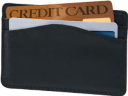 Black Leather RFID Credit Card Sleeve - click to view product detail page