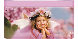 Angel Faces Pink Checkbook Cover