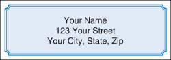 Blue Classic Address Labels - click to view product detail page
