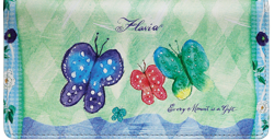 Flavia Butterflies Green Checkbook Cover