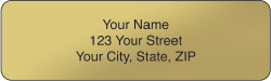 Gold Rolled Address Labels - click to view product detail page