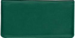 Hunter Green Leather Checkbook Cover - click to view product detail page