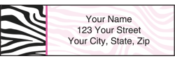 Neon Safari Zebra Print Address Labels - click to view product detail page