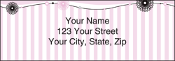 Pretty in Pink Pinstripe Address Labels - click to view product detail page