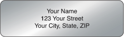 Silver Rolled Address Labels - click to view product detail page