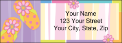 Sunny Days Beachy Address Labels - click to view product detail page