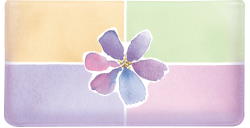 Watercolors Violet Leather Checkbook Cover