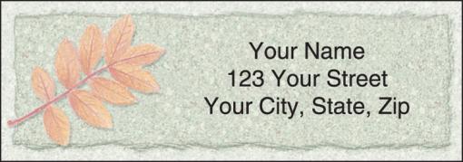 Autumn Leaf Labels - enlarged image