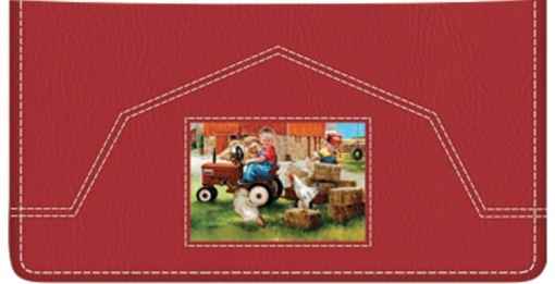 Barnyard Buddies Checkbook Cover - enlarged image